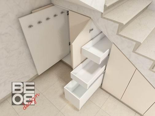 Bebo progetto arredo arredamento interni mobili su misura - Mobili sottoscala su misura ...